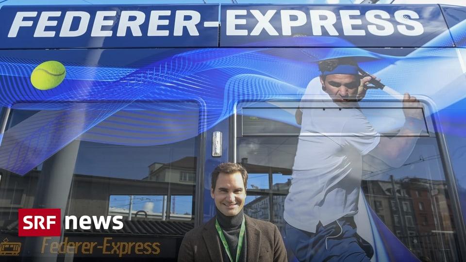 Ehren-Tram der BVB - Roger Federer weiht in Basel eigenes Tram ein