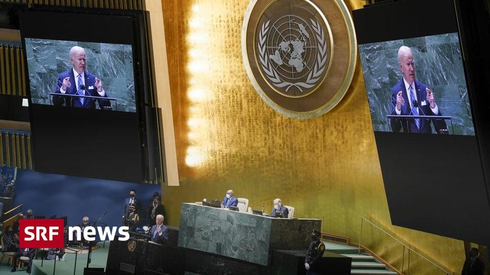 UNO-Generaldebatte in New York - Bidens kräftige Rede hinterlässt schalen Nachgeschmack - Schweizer Radio und Fernsehen (SRF)