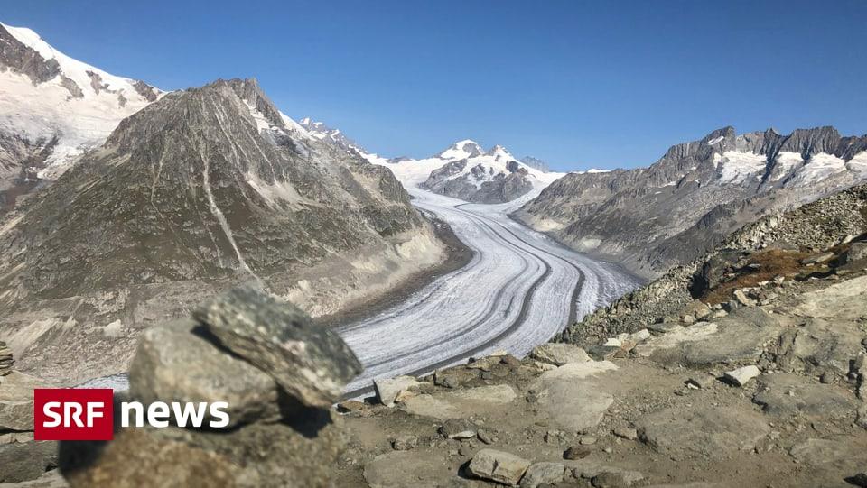 Warme Temperaturen - Späte Hitzewelle bringt den Aletschgletscher ins Schwitzen