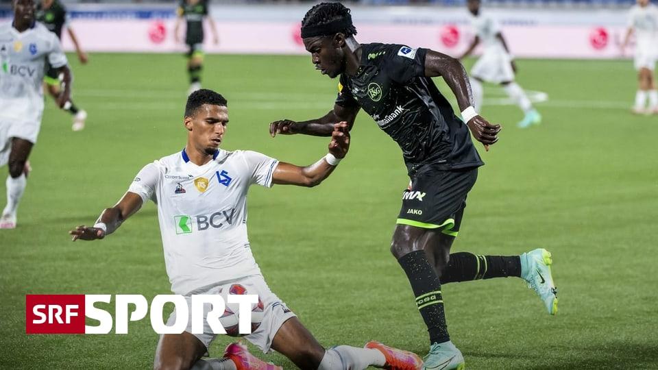 1. Runde der Super League - St. Gallen siegt dank Youan in Lausanne