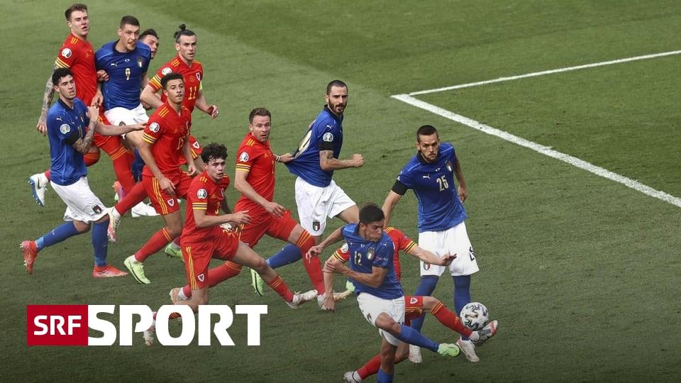 Letztes Spiel der Gruppe A - Auch der zweite Anzug passt: Italien siegt 1:0 gegen Wales