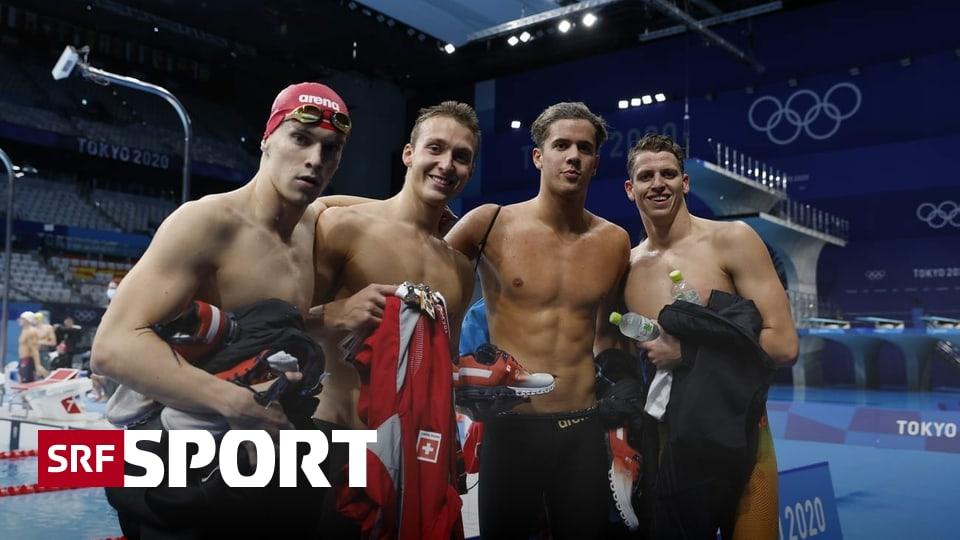 Schwimm-Highlights am Mittwoch - Männer-Staffel mit Schweizer Rekord auf Rang 6