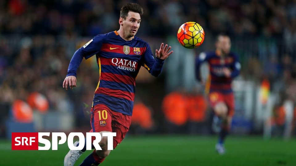 internationale ligen  fussballnews messi erstmals