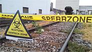 Greenpeace hat in Basel Gentech-Raps entdeckt. Unter anderem im Bahnhof St. Johann.
