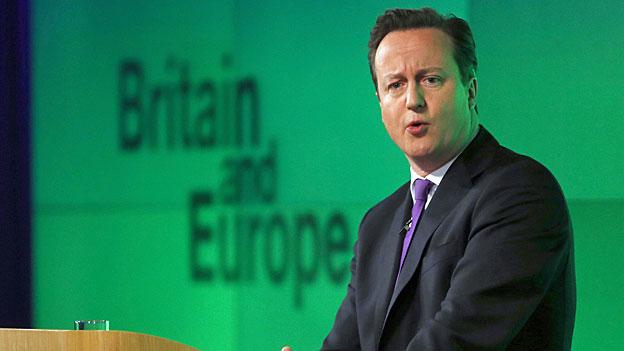 David Cameron während seiner Rede zum britischen Verhältnis zur EU.