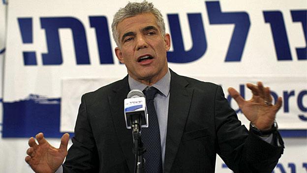 Jair Lapid mit seiner liberalen Zukunftspartei sorgte für die Überraschung bei den Wahlen in Israel.