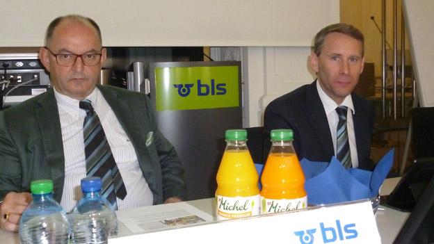 Sinn für historische Werte: BLS-Chefs Rudolf Stämpfli und Bernard Guillelmon