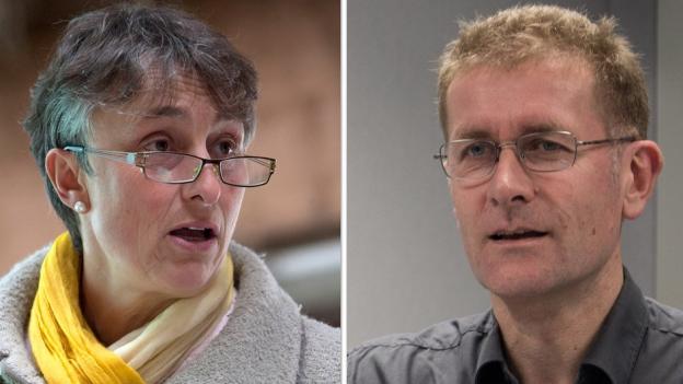 Marie Garnier und Christoph Neuhaus wollen Gemeindefusionen weiter vorantreiben.