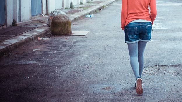 Modisch: Hotpants aus Jeans.