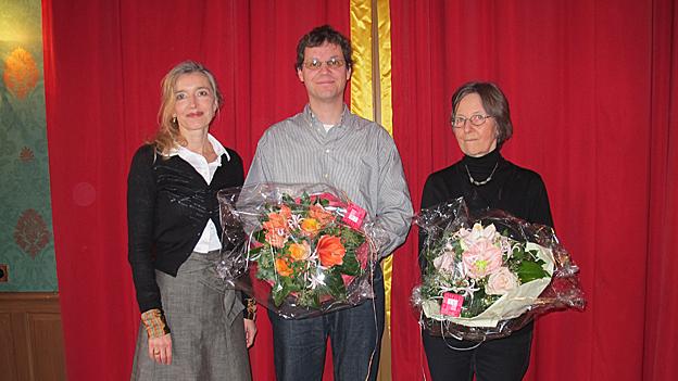 V.l.n.r. Anita Richner, Lukas Fries und Margrit Schmid.