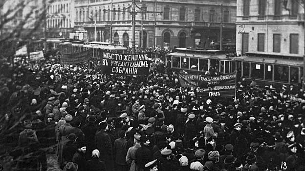 Demonstration in Petrograd 1917