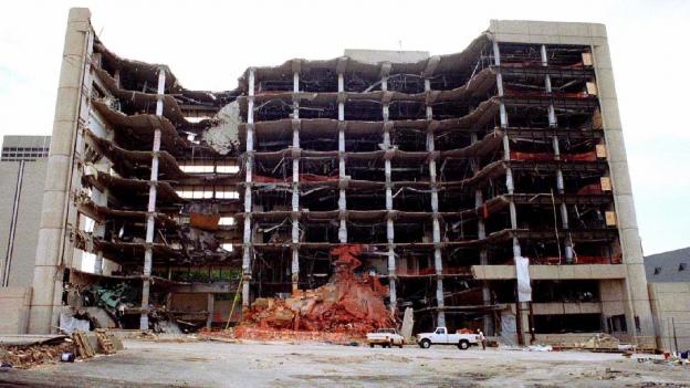 Die baulichen Überbleibsel einer schrecklichen Tat: das Alfred P. Murrah Federal Building