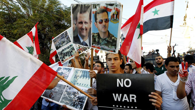 Demonstration in Beirut gegen US-Militärschlag