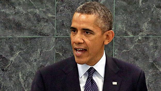 US-Präsident Obama während seiner Rede vor der Uno-Generalversammlung in New York.