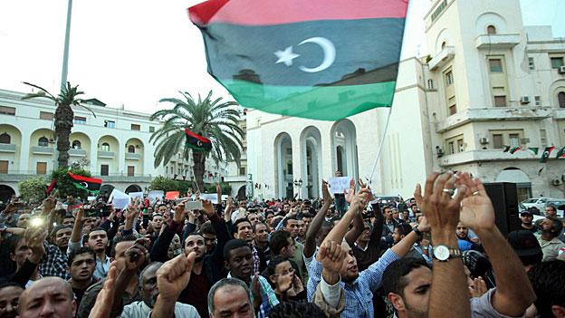 An den Demonstrationen vom Wochenende gerieten Demonstrierende und Milizen aneinander. Tripolis, 17. November.