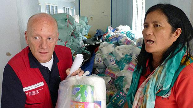 Manuel Bessler, Delegierter für Humanitäre Hilfe des Bundes, am 16. November im Norden der Insel Cebu.
