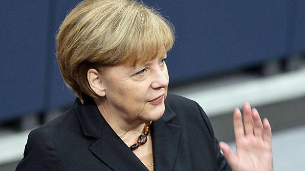 Angela Merkel - noch vor ihrer Wahl im Bundestag in Berlin.