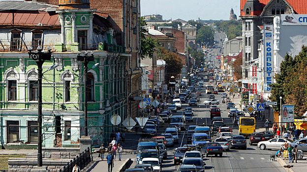 In Charkow (Bild), Dnjepropetrowsk und andern ostukrainischen Städten wollen die meisten Machtträger und Oligarchen keine Spaltung und keinen Anschluss an Russland.