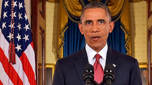 US-Präsident Barack Obama während der Rede an die Nation zu seiner Strategie gegen den «Islamischen Staat».