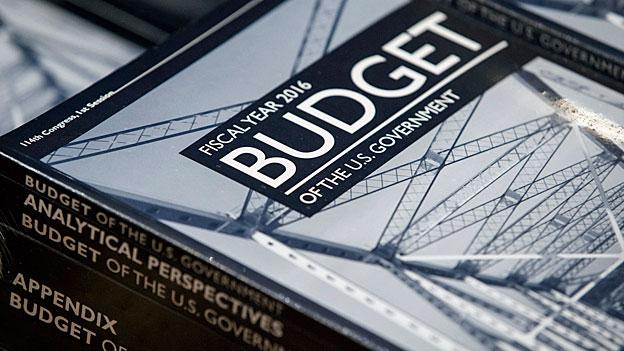 Das US-Budget 2016 in Buchform – Streit darüber ist vorprogrammiert.