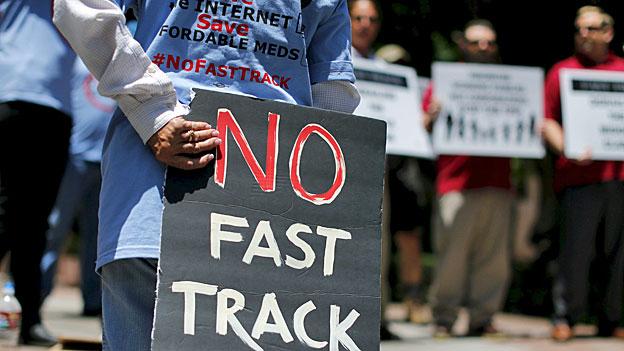 Der Widerstand gegen die Freihandelsabkommen ist gross - vor allem in Obamas eigener Partei, den Demokraten.