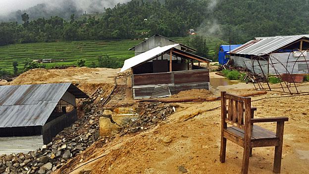 In solchen Häusern findet nun wieder Schule statt.