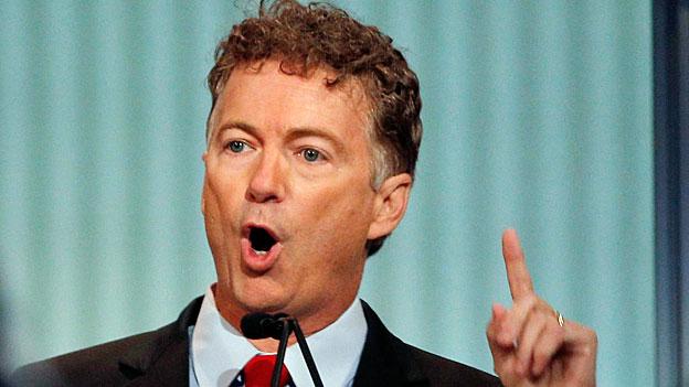 Rand Paul, der libertäre Republikaner aus Kentucky kämpft gegen den Überwachungsstaat und sagt, das Doppelbesteuerungsabkommen mit der Schweiz gebe der Steuerbehörde IRS zu viel Macht - und verletze die Privatsphäre der US-Steuerzahler.