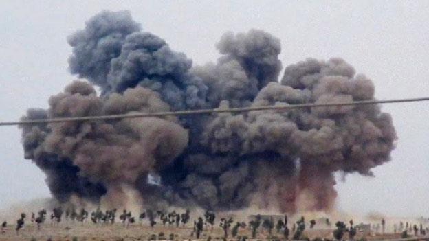 Russische Jets führten Luftangriffe in Syrien durch. Es gab widersprüchliche Behauptungen über die getroffenen Ziele.