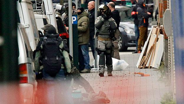 Polizeieinsatz im Brüsseler Stadteil Molenbeek.