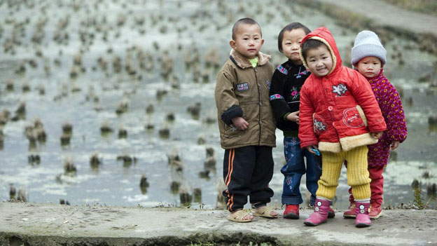 Kinder in China.