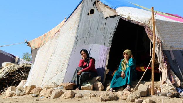 Die, die Geld hatten, haben Syrien schon längst verlassen. Flüchtlingscamp in der Nähe von Aleppo.