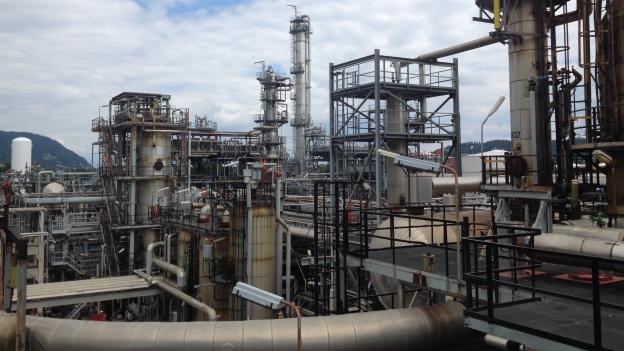 In Cressier (NE) entsteht aus Rohöl Benzin, Diesel und Heizöl.