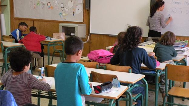 Blick in die «Willkommensklasse» von Lehrerin Teti Nikolopoulou.