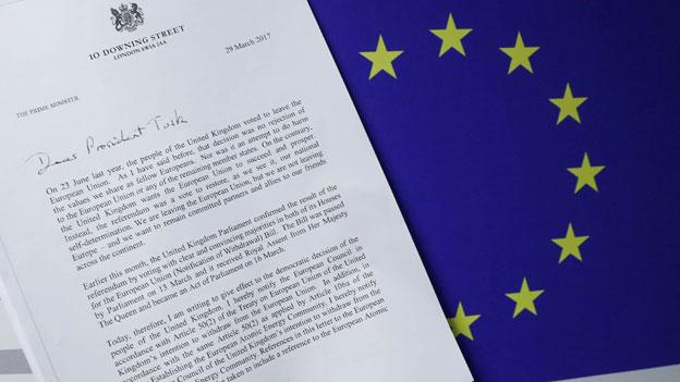 Auf sechs Seiten erklärt die britische Premierministerin Theresa May, warum und wie das Königreich die Staatengemeinschaft verlassen will.