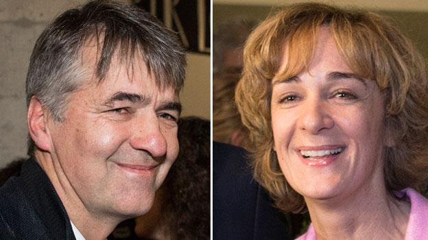 Die beiden Kandidierenden für das Berner Stadtpräsidium: Alec von Graffenried (GFL), links, und Ursula Wyss (SP).