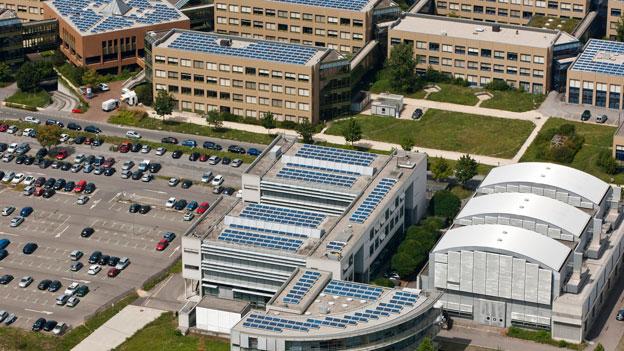 Sicht auf den Campus der EPFL in Lausanne.