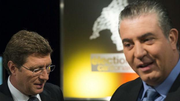 2013 noch Verbündete: Mauro Poggia und Eric Stauffer