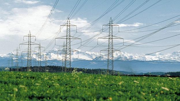Stromleitungen der Axpo Holding.