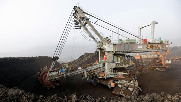 Kohle-Bergwerk in Most, Tschechien. Einige Regierungen planen, aus dem Kohlegeschäft auszusteigen. Braunkohle gilt als eine der Hauptquellen für Treibhausgase.