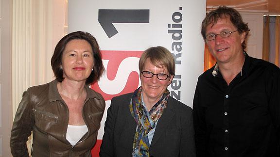DRS 1-Gastgeberin Katharina Kilchenmann, Britta Allgöwer und Arno Del Curto.