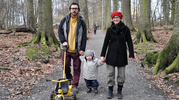 Silvia Feuz mit ihrem Mann und ihrem Sohn.