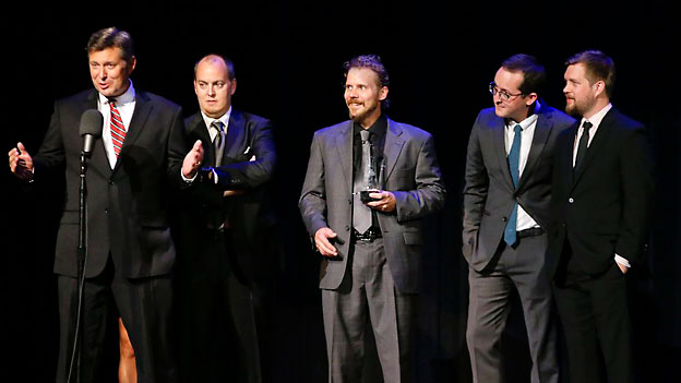 Die New Yorker Gibson Brothers bekommen den IBMA-Award am 27.9.2012.
