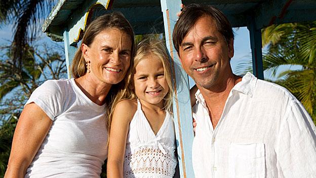 Claudia Ledesma mit ihrer 9,5-jährigen Tochter und ihrem Mann.