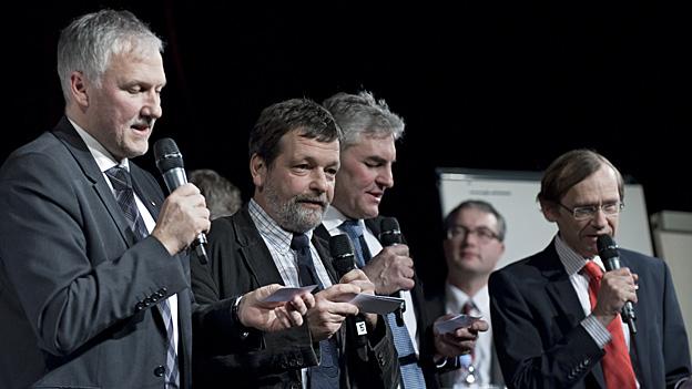 Das Podium zu den Solothurner Regierungsratswahlen stiess auf grosses Interesse.