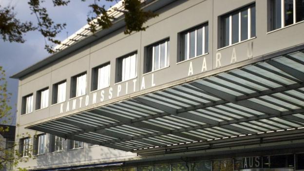 Spitaleingang in Aarau