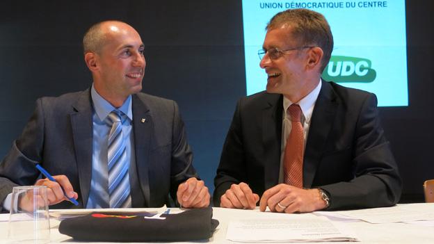 Manfred Bühler (links) und Christoph Neuhaus freuen sich über ihre Nomination.