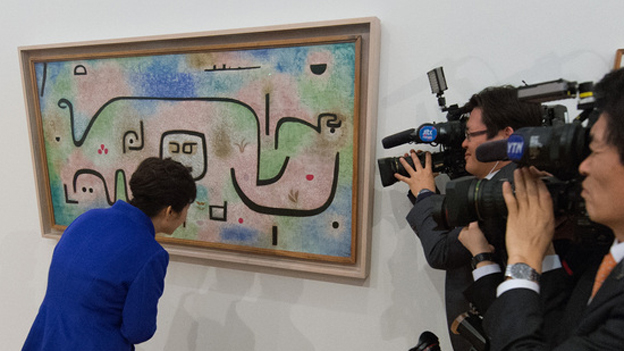 Präsidentin Park Geun-Hye besucht das Zentrum Paul Klee.