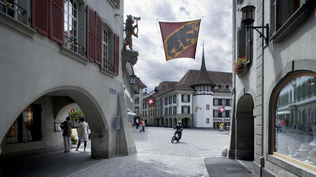 Der Thuner Rathausplatz