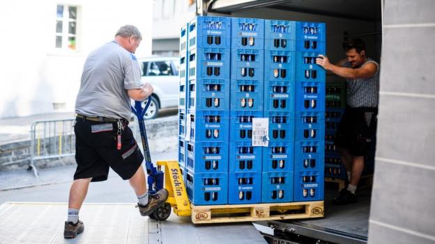 450 Tonnen Getränke stehen für die Jodler bereit.