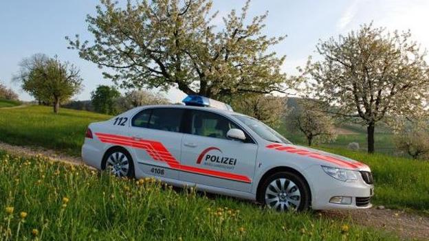 Ein Fahrzeug der Baselbieter Polizei